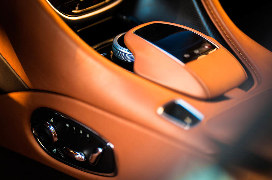 Aston Martin DB11 seat controls