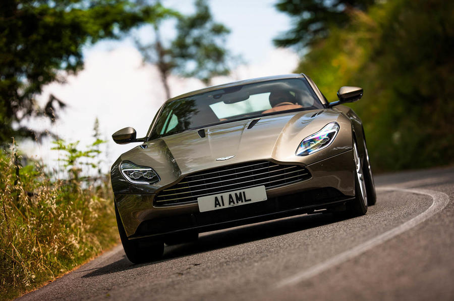 Aston Martin DB11 on Italian roads