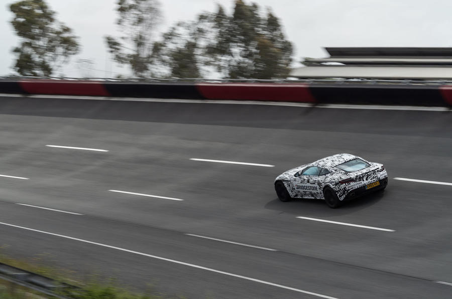 Cruising in the Aston Martin DB11