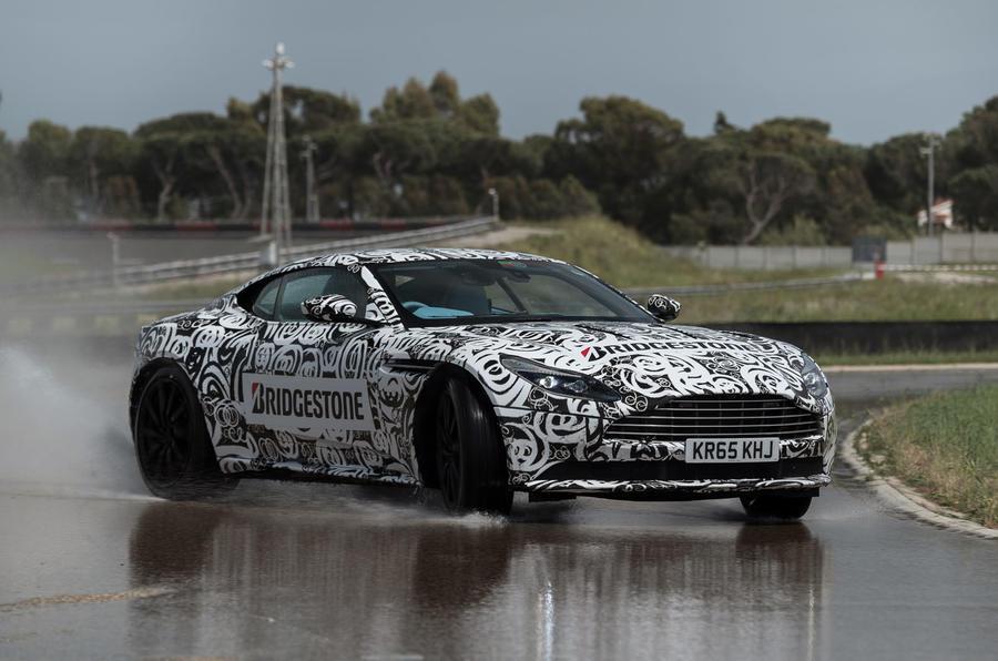 Drifting in the Aston Martin DB11