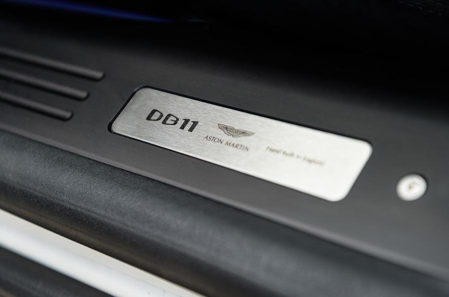 Aston Martin DB11 V8 door plaque