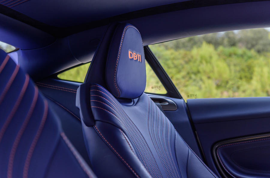 Aston Martin DB11 V8 front sports seats