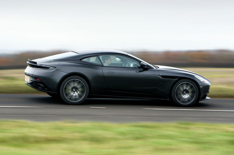 Aston Martin DB11 V8 on the road