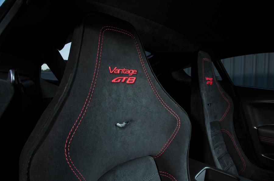 Aston Martin Vantage GT8 stitched seats