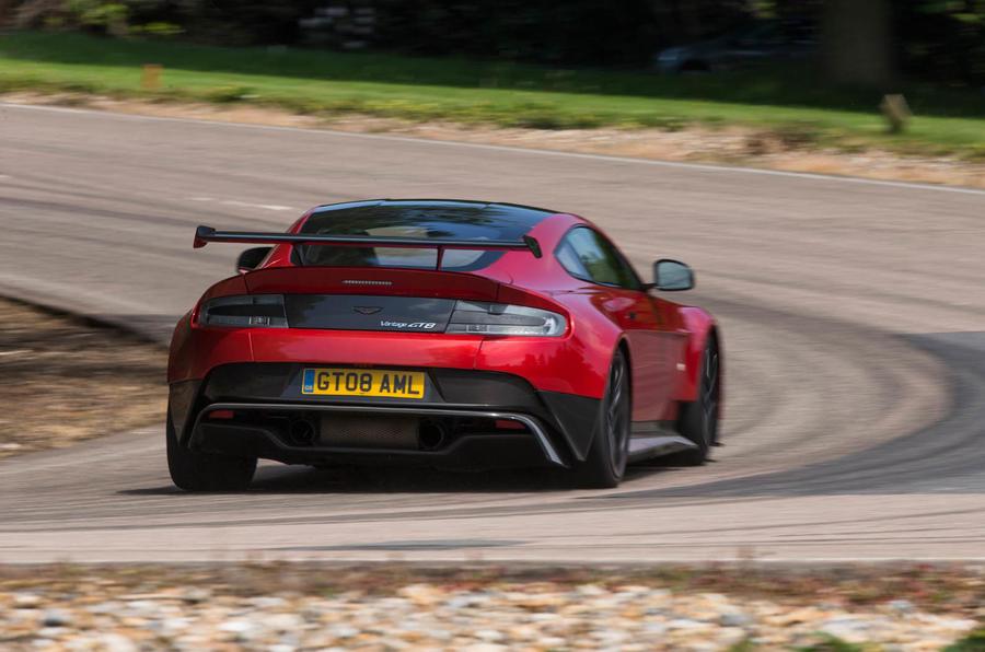 Aston Martin Vantage GT8 drifting