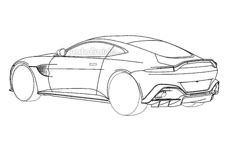 2018 Aston Martin Vantage revealed in patent images