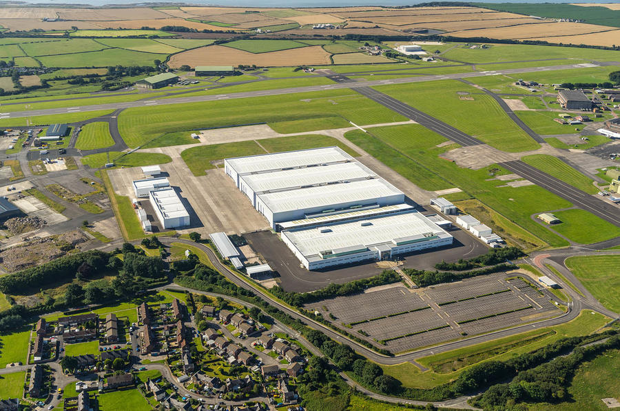 Aston Martin DBX building St Athan plant