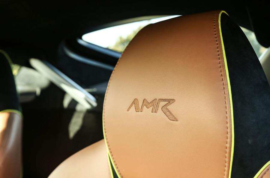Aston Martin V8 Vantage AMR badged headrest