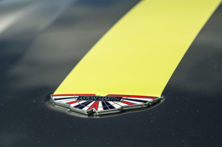 Aston Martin V8 Vantage AMR Union Jack badge