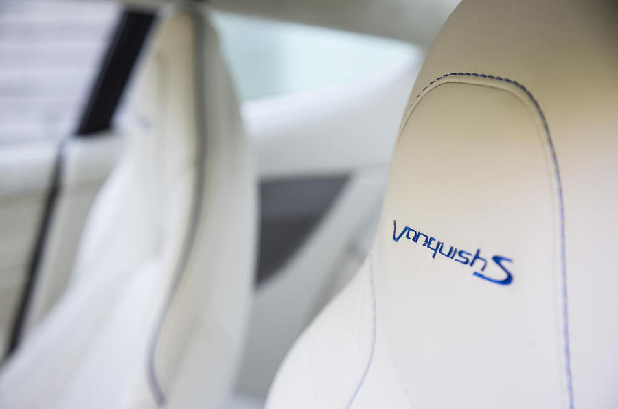 Aston Martin Vanquish S badged seats