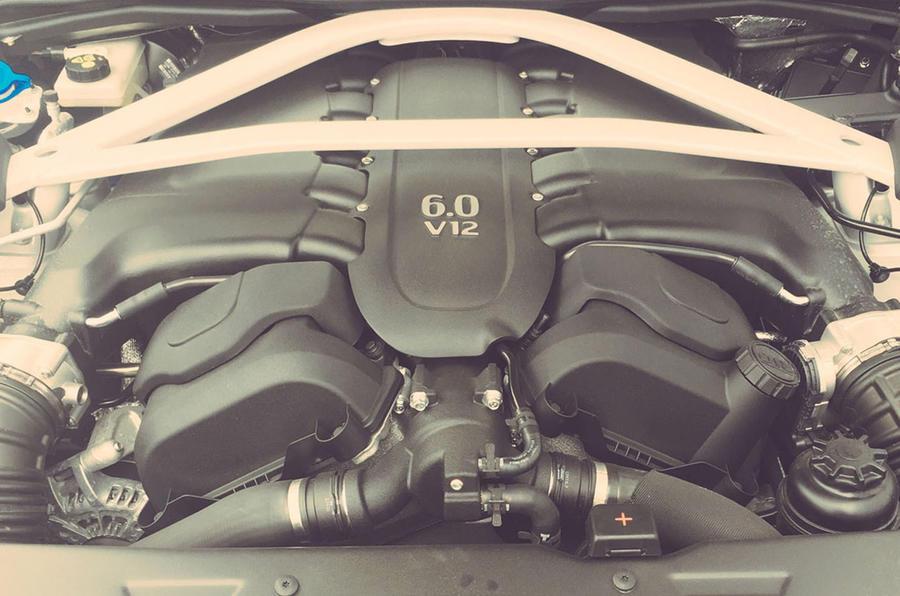 6.0-litre V12 Aston Martin Vanquish S engine bay