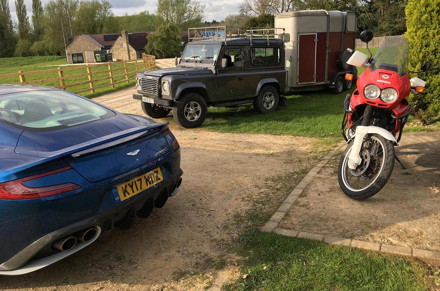 Aston Martin Vanquish S school run choices