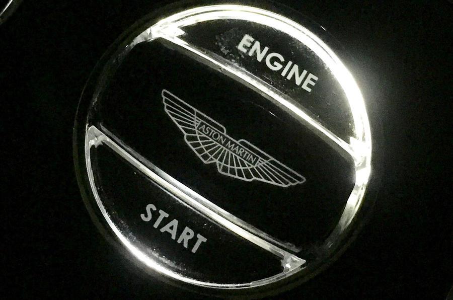 Aston Martin Vanquish S starter button
