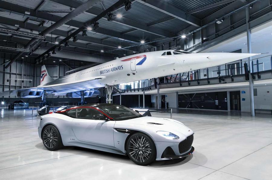 Aston Martin DBS Superleggera Concorde Edition front plane