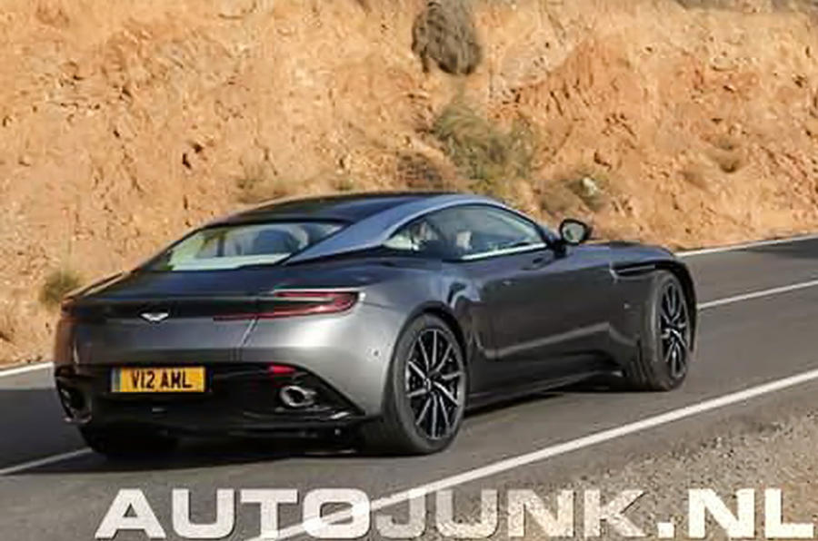 2016 aston martin db11 leaked in new images autocar. Black Bedroom Furniture Sets. Home Design Ideas