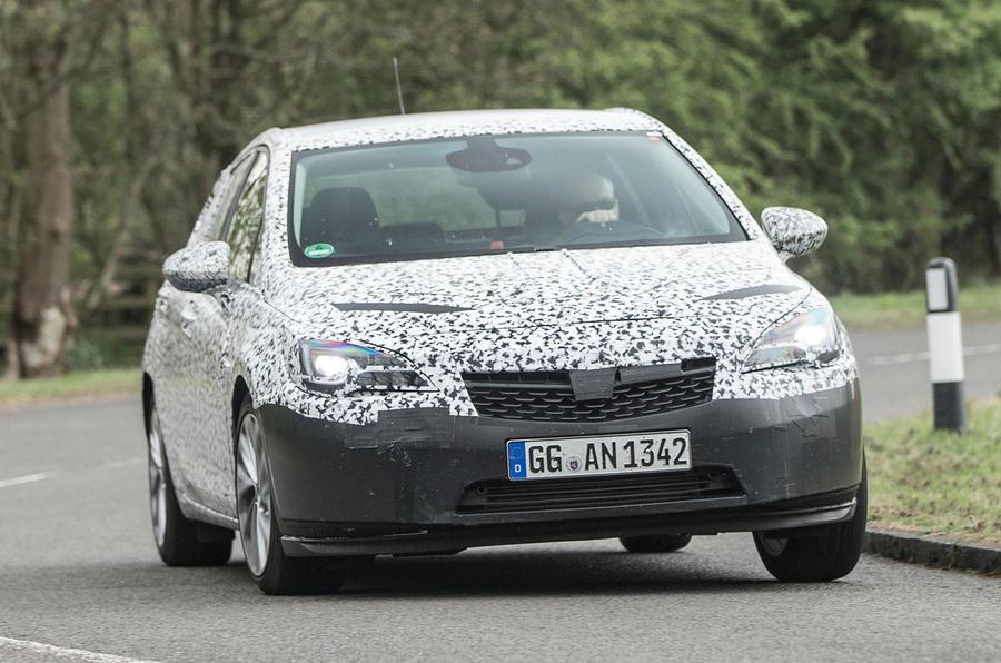 Vauxhall Astra prototype cornering