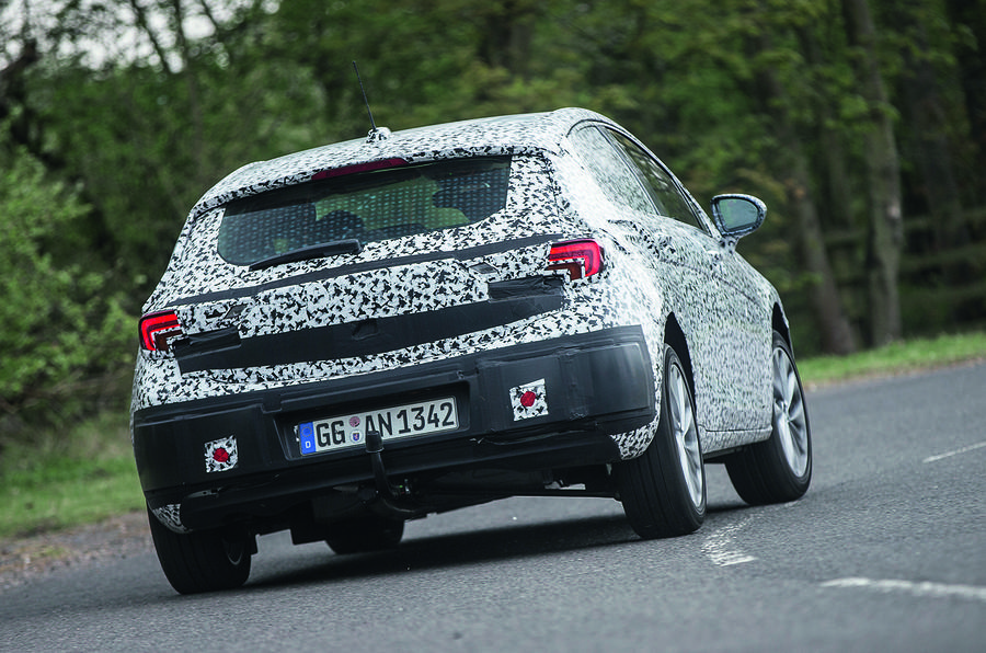 Vauxhall Astra prototype rear cornering
