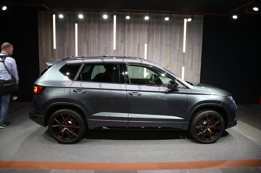 The Cupra Ateca at the Geneva motor show