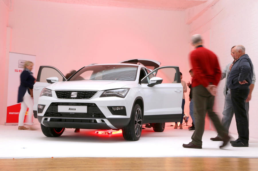 The new SEAT Ateca was shown to a group of Autocar readers