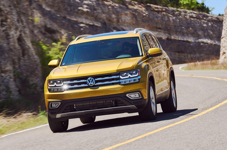 Volkswagen Atlas cornering