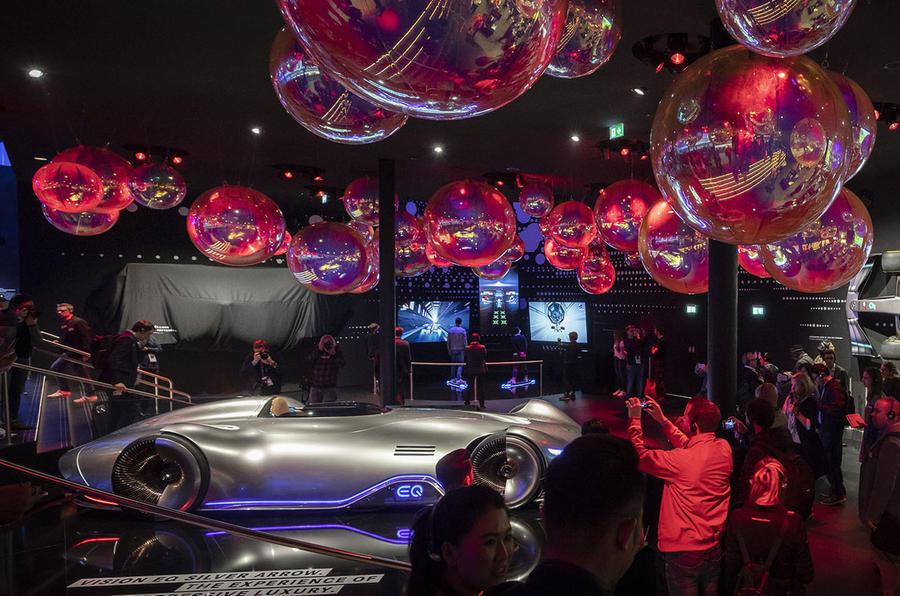 Mercedes stand at Frankfurt 2019
