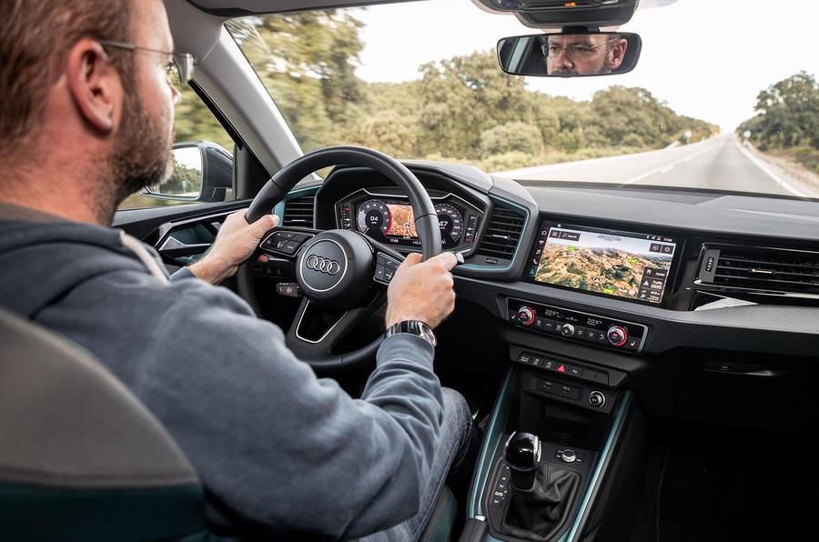 Audi A1 driving shot