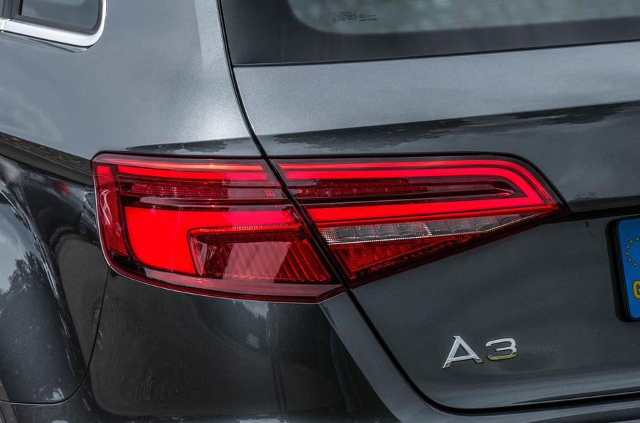Audi A3 Sportback rear lights