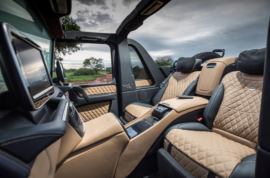 Mercedes-Maybach G650 Landaulet rear seats with roof down