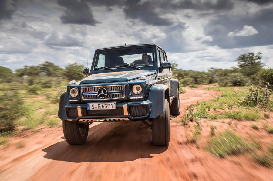 Mercedes-Maybach G650 Landaulet on an African nature reserve