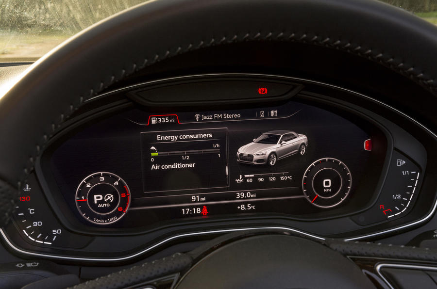 Audi A5 Cabriolet Virtual Cockpit