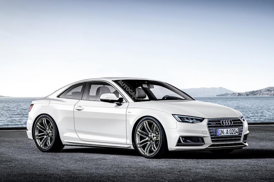 2017 audi a5 coup teaser released ahead of today 39 s reveal. Black Bedroom Furniture Sets. Home Design Ideas