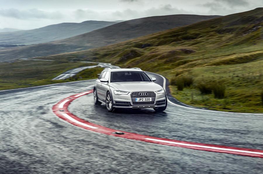 Audi A6 Allroad cornering