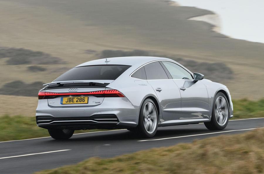 Audi A7 rear spoiler up