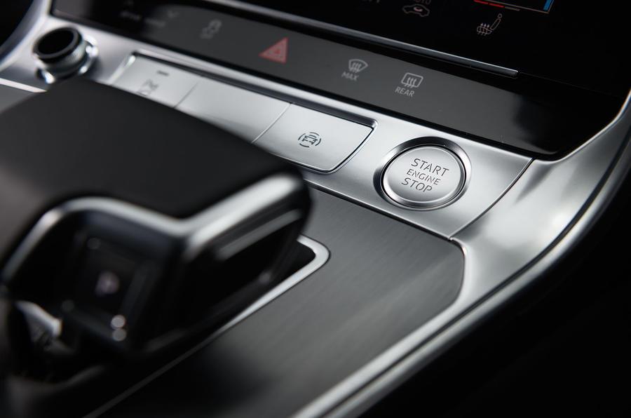 Audi A7 starter button