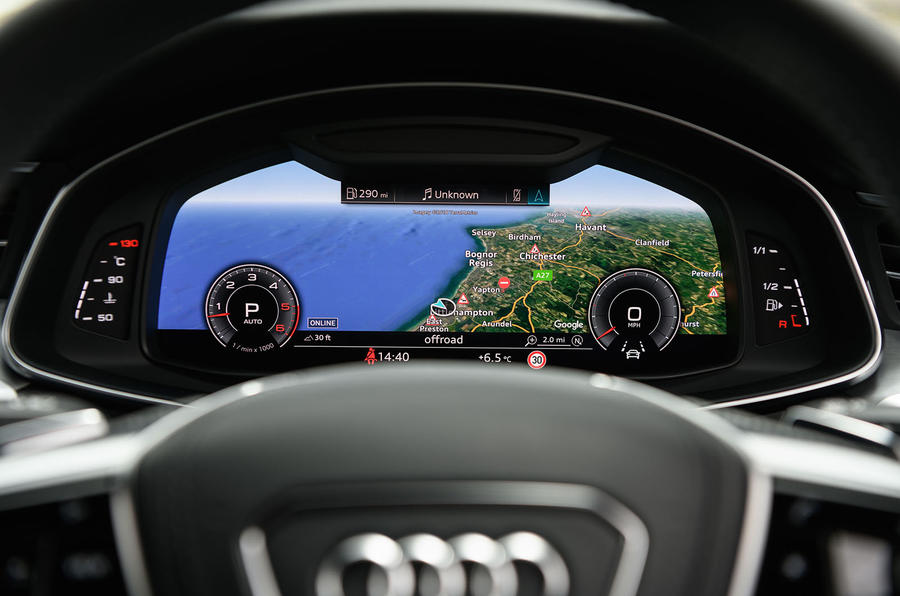 Audi A7 virtual cockpit