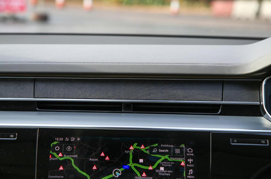 Audi A8 50 TDI covered air vents