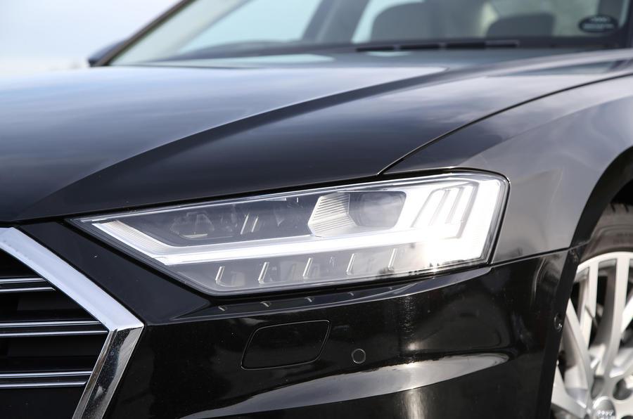 Audi A8 50 TDI LED headlights