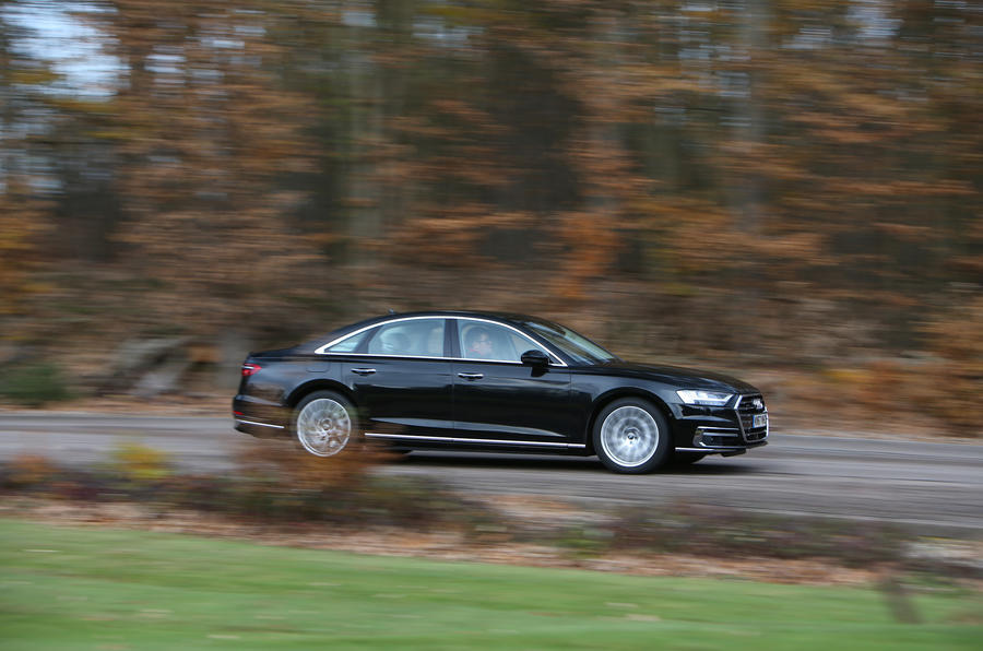 Audi A8 50 TDI on the road