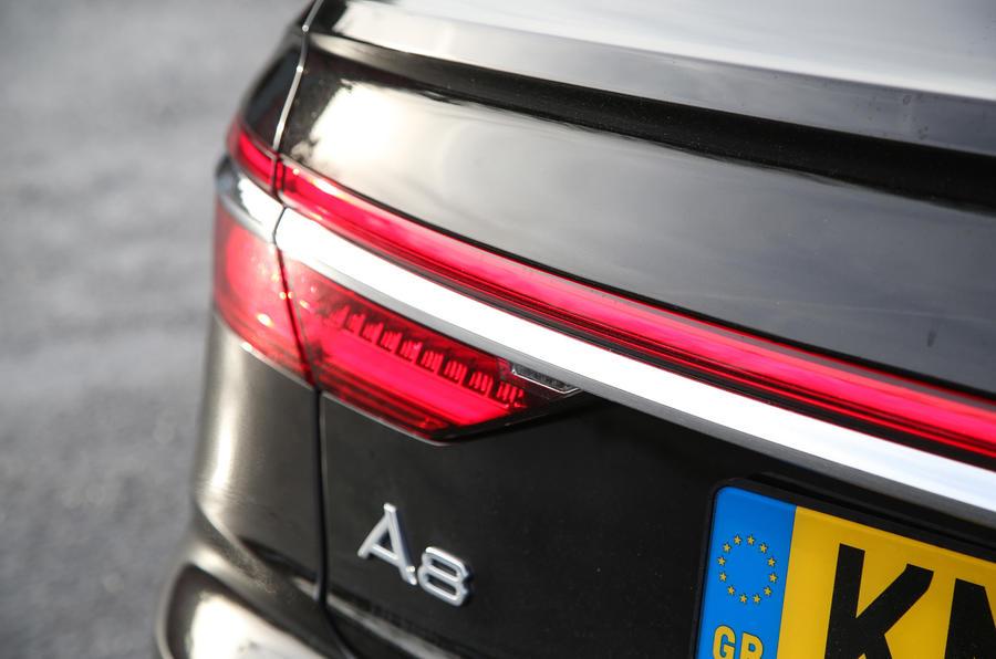 Audi A8 50 TDI rear lights