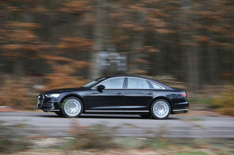 Audi A8 50 TDI side profile