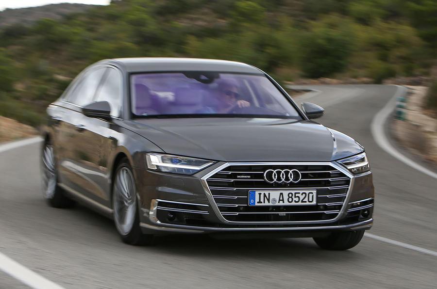 Audi A8 hard cornering