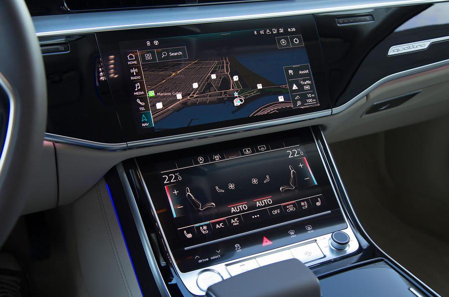 Audi A8 infotainment system