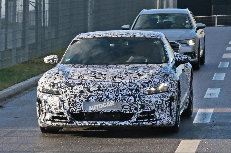 2021 Audi E-tron GT camouflaged prototype - nose