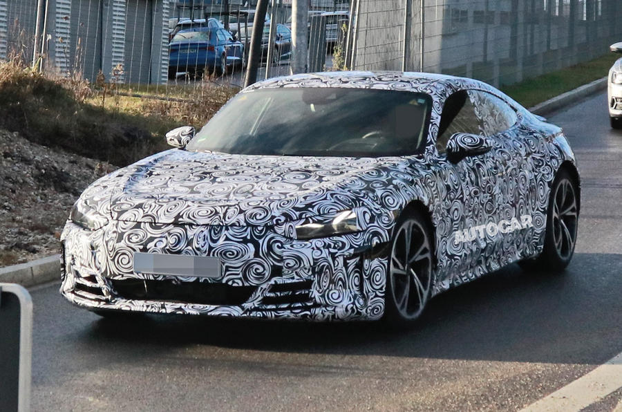 2021 Audi E-tron GT camouflaged prototype - front