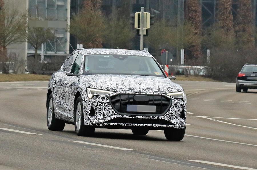Audi E-tron Sportback 2020 spies - hero front