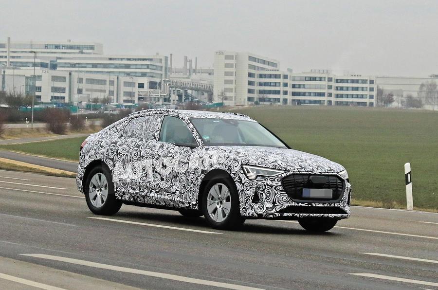 Audi E-tron Sportback 2020 spies - hero side