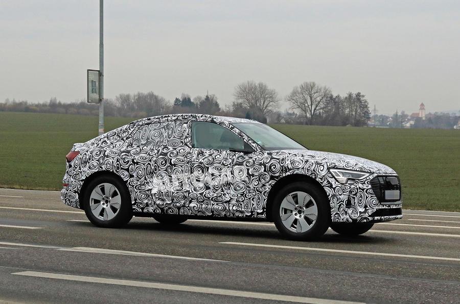 Audi E-tron Sportback 2020 spies - right side