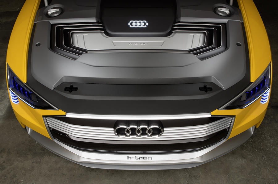 Audi h-tron concept interior Detroit