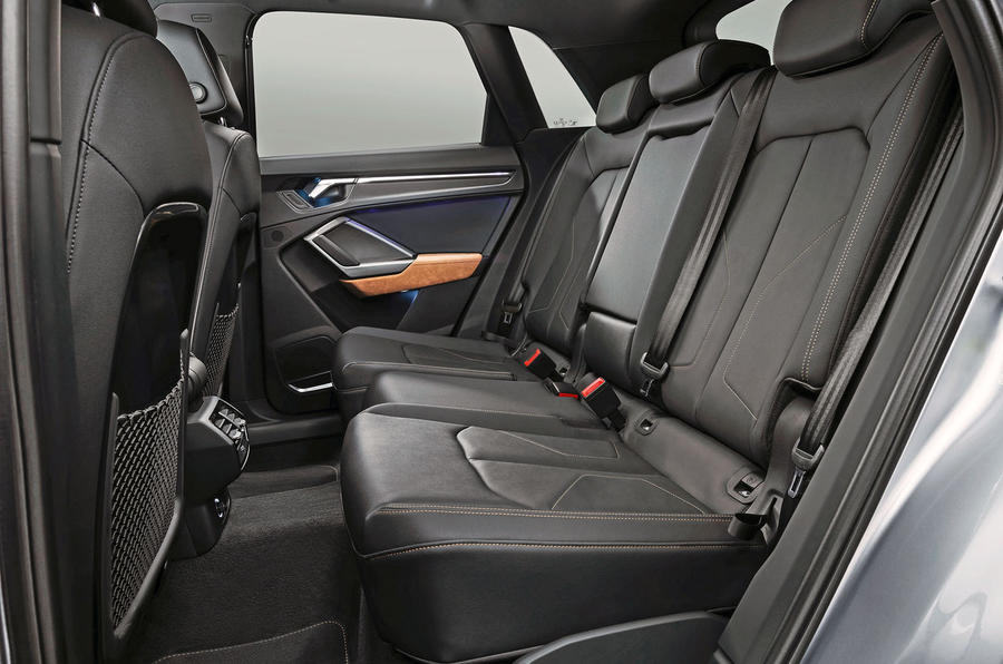 Audi Q3 rear seats shot