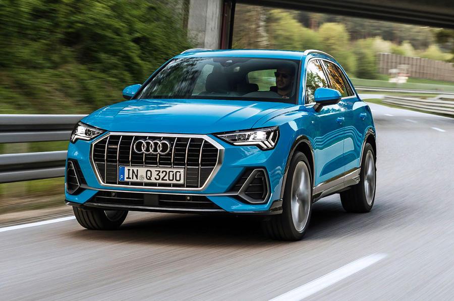 Audi Q3 front tracking shot